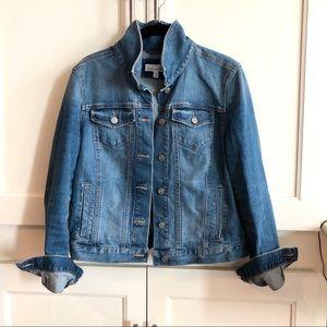 Denim jacket with slight distressing